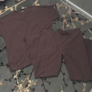 Cherokee set of brown scrubs Size small